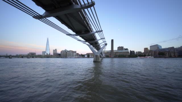The River Thames, and Millennium Bridge.