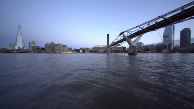 The River Thames, and Millennium Bridge.