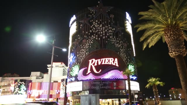 the riviera hotel and casino in las vegas, nevada, usa, probably the most unsustainable city in the world, it uses vast quantities of water in the... - illusion stock videos & royalty-free footage