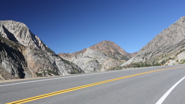 the road from lee vining into yosemite national park, california, usa. - yosemite national park stock videos & royalty-free footage