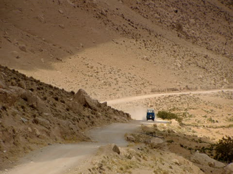 the road leading to naqsh-e rustam winds around the mountains of persepolis. - iran stock videos and b-roll footage