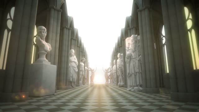 der road to eternity vi - statue stock-videos und b-roll-filmmaterial