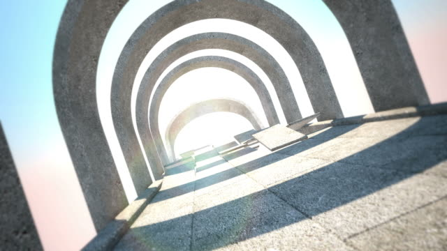 la road to eternity - arco architettura video stock e b–roll