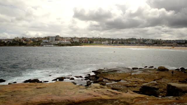 The rocky shores of Hunter Park, Bondi, Sydney Australia