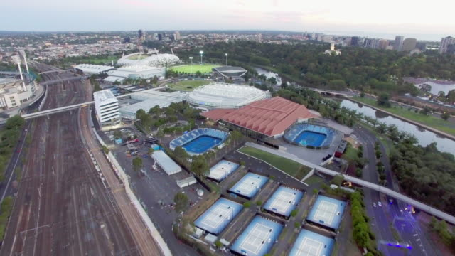 the rod laver tennis arena melbourne. - david ewing stock videos & royalty-free footage