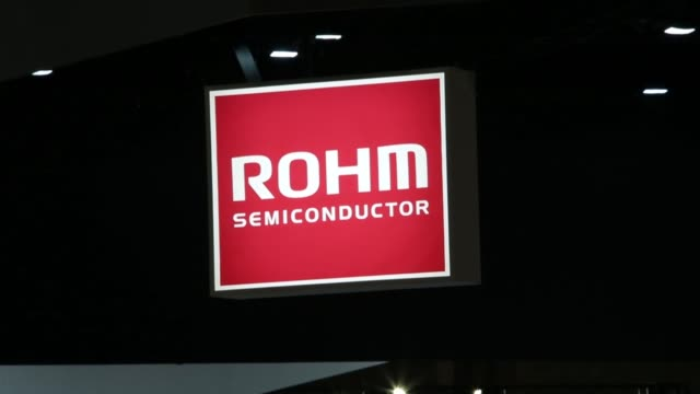 The Rohm Co booth stands at the Cutting Edge IT Electronics Comprehensive Exhibition CEATEC at Makuhari Messe in Chiba Japan on Thursday Oct 8...