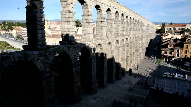 The roman aquaduct in Segovia, Spain