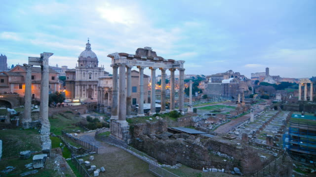 the roman forum - rome italy stock videos & royalty-free footage