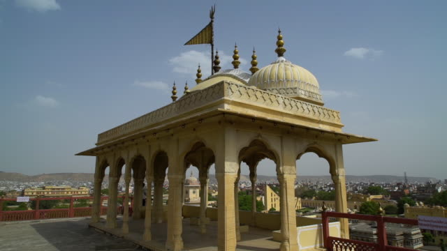 the roof at the city palace. - mughal empire stock videos and b-roll footage