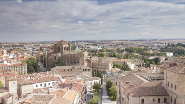 The rooftops of Salamanca in Spain.