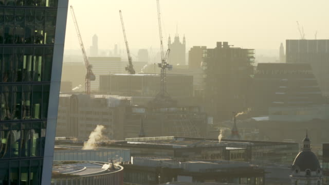 the rooftops of the london skyline - victoria tower stock videos & royalty-free footage