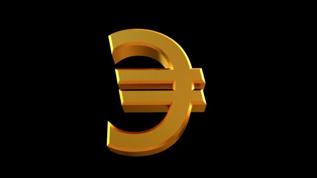vidéos et rushes de la rotation de l'euro, de la sig avec masque - symbole du yen