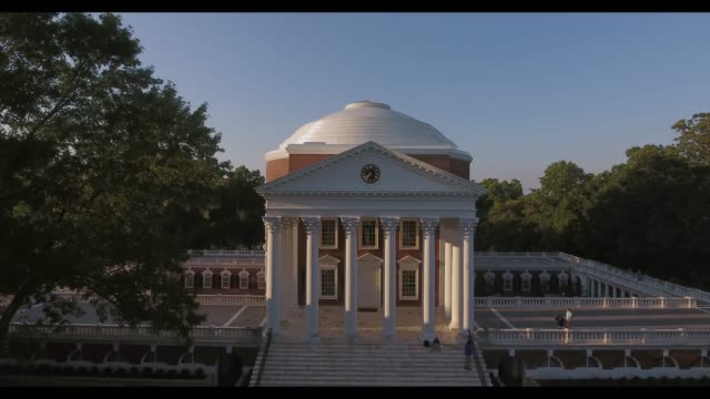 the rotunda on grounds at the lawn in the university of virginia - university of virginia stock videos & royalty-free footage