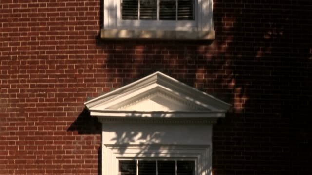 the rotunda on grounds at the lawn in the university of virginia west wall tiltup - university of virginia stock videos & royalty-free footage