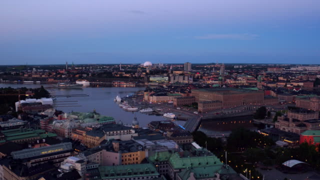AERIAL: The royal castle in Stockholm city.