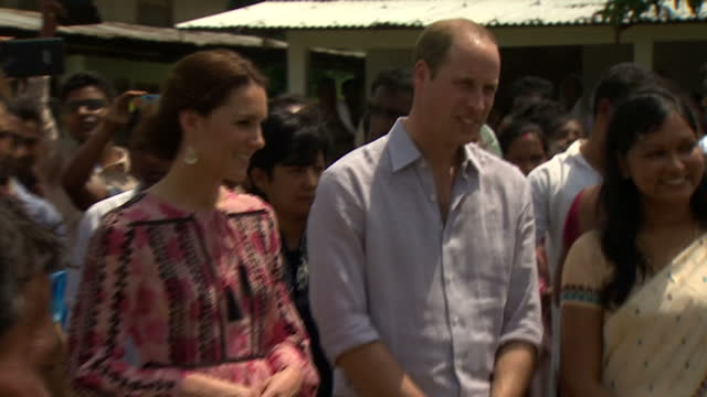 stockvideo's en b-roll-footage met the royal couple have also been welcomed to panbari village in the assam part of india by people living therethey met groups of families before... - koninklijk persoon