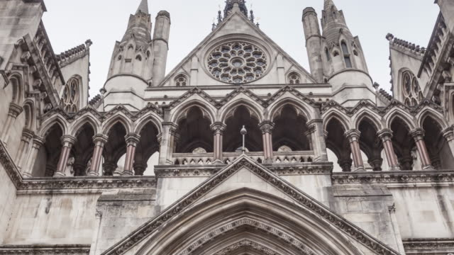 the royal courts of justice in london, england. - the strand london stock videos and b-roll footage