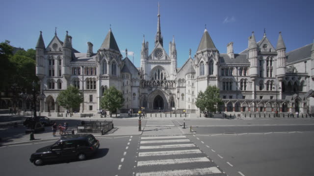 the royal courts of justice, london. from a high angle viewpoint. - 19th century style stock videos & royalty-free footage
