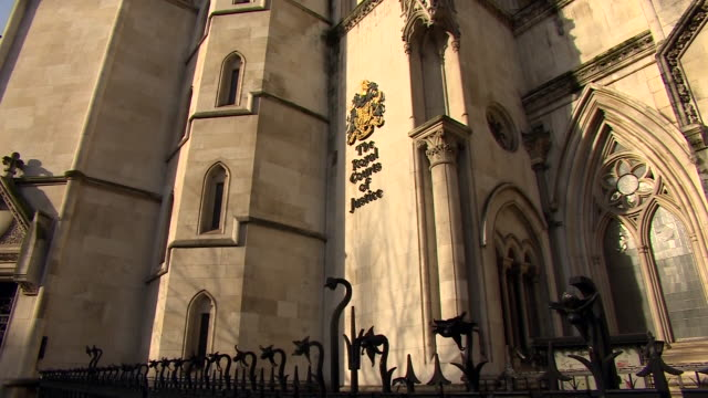 the royal courts of justice - courthouse stock videos & royalty-free footage