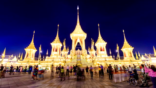 the royal crematoriam of thailand king which was cremated the king on october 26, 2017. now it is open for people to visit 60 days on november and december 2017 at royal field, bangkok, thailand - editorial stock videos & royalty-free footage