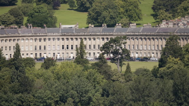 the royal crescent,  bath, uk - terraced house stock videos & royalty-free footage