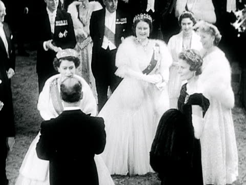 the royal family chat to president lopes and his wife at a gala evening at the royal opera house. - 1899 stock videos & royalty-free footage