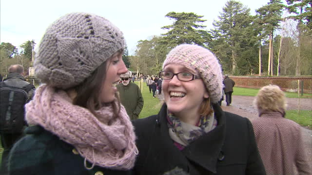 The Royal family has attended a Christmas church service in Sandringham A record crowd gathered to see the family particularly Catherine who was...