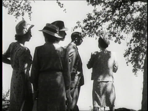 The Royal family visit Victoria Falls on a tour of South Africa 1947