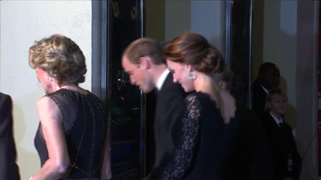 the royal variety performance london palladium exterior night shots of pregnant catherine duchess of cambridge kate middleton and prince william duke... - madeleine gurdon stock videos & royalty-free footage
