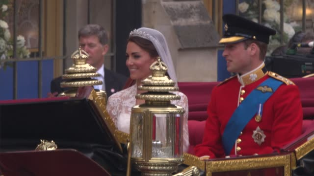 the royal wedding london uk - duchess of cambridge stock videos & royalty-free footage