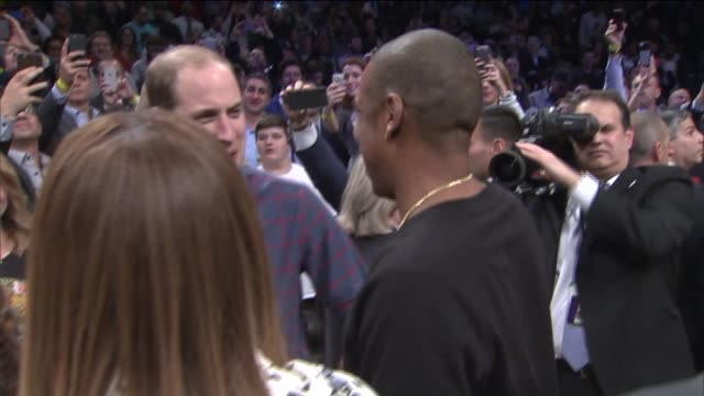 the royals in brooklyn prince william and kate middleton arrive at barclays center while the royal couple watched the nets take on the cavs at the... - beyoncé knowles stock videos & royalty-free footage