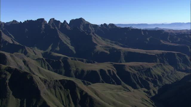 the rugged drakensberg mountain range. available in hd - drakensberg mountain range stock videos & royalty-free footage