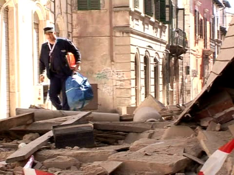 the ruined renaissance town of l'aquila remained a ghost town on wednesday as rescue workers' hopes of finding more survivors were fading. l'aquila,... - 2009 stock videos & royalty-free footage