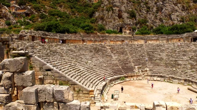 The ruins of Ancient Greece(an amphitheater-Ephesus)