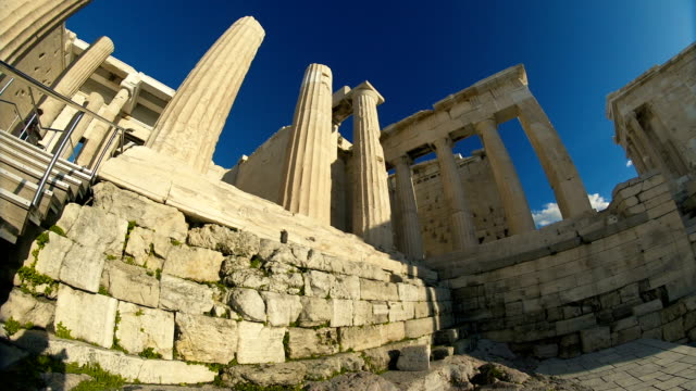 the ruins of ancient greece - the erechtheion stock videos & royalty-free footage