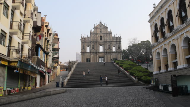 the ruins of st paul's refers to the ruins of a 16thcentury complex in macau including of what was originally st paul's college and the church of st... - apostle stock videos and b-roll footage