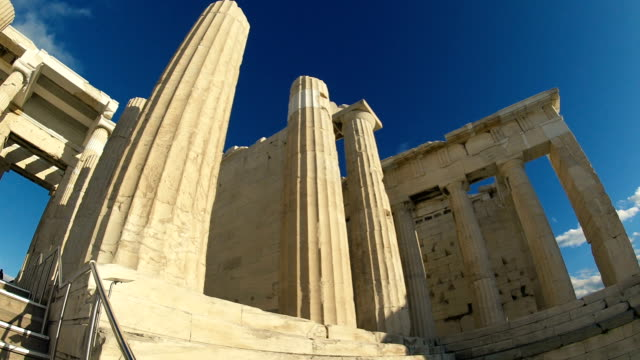 the ruins of the acropolis in greece - the erechtheion stock videos & royalty-free footage