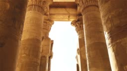 The ruins of the ancient temple of Sebek in Kom - Ombo, Egypt.