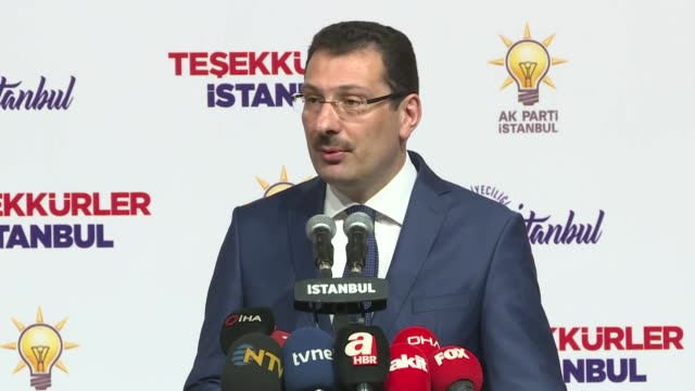 the ruling justice and development party will appeal to the top election authority for recount of votes cast in all districts of istanbul a party... - 70 79 years stock videos & royalty-free footage
