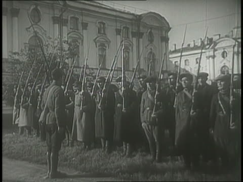 the russian bayonet brigade trains and marches. - bayonet stock videos & royalty-free footage