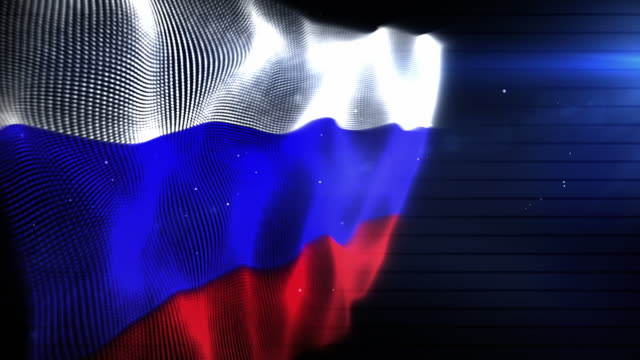 the russian flag - background loop (full hd) - russian flag stock videos & royalty-free footage