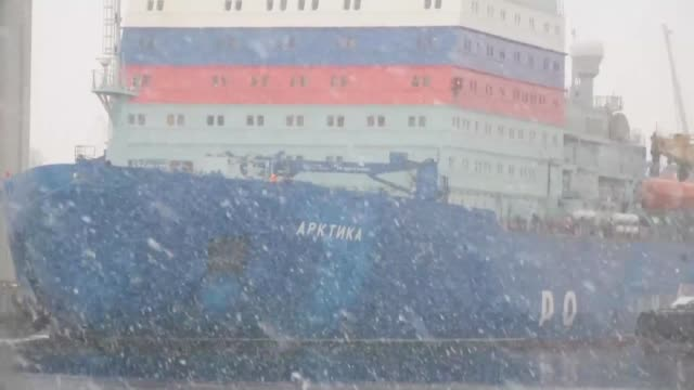 the russian nuclear icebreaker arctica the most powerful ship of its kind in the world and a symbol of moscow's ambitions for the arctic returns to... - russia stock videos & royalty-free footage