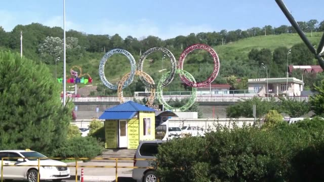 stockvideo's en b-roll-footage met the russian resort of sochi which hosted the 2014 winter olympics is hoping to attract one million visitors during the 2018 football world cup finals... - wereldkampioenschap sport