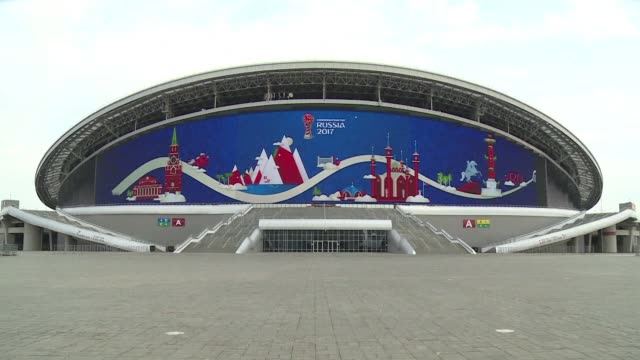 the russian town of kazan is getting ready for the fifa confederations cup which will start in next june - kazan russia stock videos and b-roll footage