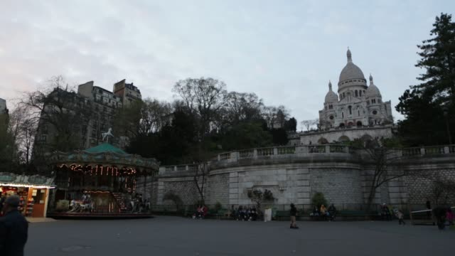 The Sacre Coeur Basilica at Night