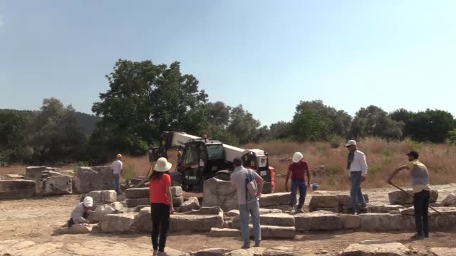 the sacred road between two ancient greek cities in what is today western turkey have been unearthed the 3000yearold pathway in turkey's aegean mugla... - back to front stock videos and b-roll footage