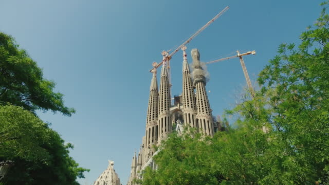 the sagrada familia in barcelona, spain - stabilized shot stock videos & royalty-free footage
