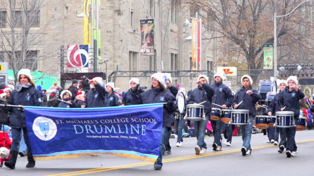 the saint michael's college drumline the parade is a city tradition dating back more than a century the celebration event is held annually on the... - marching band stock videos & royalty-free footage