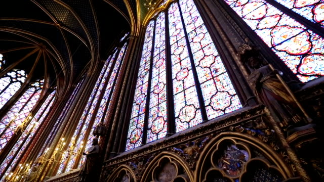 vidéos et rushes de la sainte-chapelle à paris - ornement