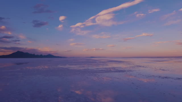 the salt flats landscape at dusk - salt flat stock videos & royalty-free footage